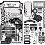 BoBunny - Black Tie Affair Collection - Noteworthy Journaling Cards