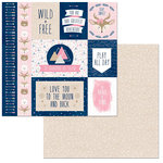 BoBunny - Little Wonders Collection - 12 x 12 Double Sided Paper - Victoria