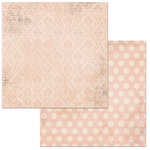 Bo Bunny - Double Dot Damask Collection - 12 x 12 Double Sided Paper - Dusty Rose