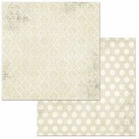 Bo Bunny - Double Dot Damask Collection - 12 x 12 Double Sided Paper - French Vanilla
