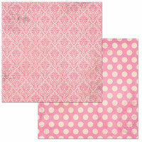BoBunny - Double Dot Damask Collection - 12 x 12 Double Sided Paper - Passion Fruit