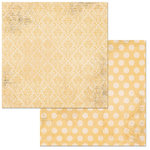 Bo Bunny - Double Dot Damask Collection - 12 x 12 Double Sided Paper - Sunflower
