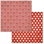 Bo Bunny - Double Dot Damask Collection - 12 x 12 Double Sided Paper - Wildberry
