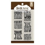 BoBunny - Clear Acrylic Stamps - Expressions