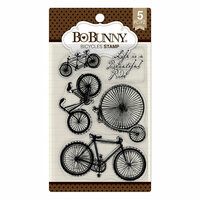 BoBunny - Clear Acrylic Stamps - Bicycles