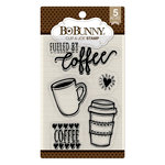 BoBunny - Clear Acrylic Stamps - Cup of Joe