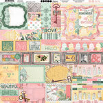 BoBunny - Sunshine Bliss Collection - 12 x 12 Cardstock Stickers - Combo