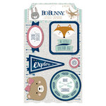 BoBunny - Little Wonders Collection - Layered Chipboard Stickers
