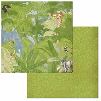 BoBunny - Jungle Life Collection - 12 x 12 Double Sided Paper - Jungle Life