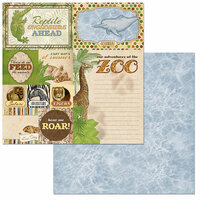 BoBunny - Jungle Life Collection - 12 x 12 Double Sided Paper - Beautiful Beasts