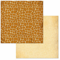 BoBunny - Jungle Life Collection - 12 x 12 Double Sided Paper - Giraffe