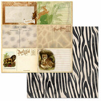 BoBunny - Jungle Life Collection - 12 x 12 Double Sided Paper - Prowl