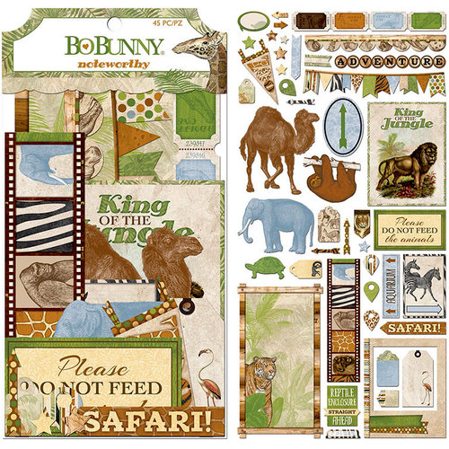 BoBunny - Jungle Life Collection - Noteworthy Journaling Cards