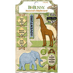 BoBunny - Jungle Life Collection - Layered Chipboard Stickers
