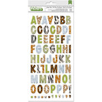 BoBunny - Jungle Life Collection - Thickers - Alphabet