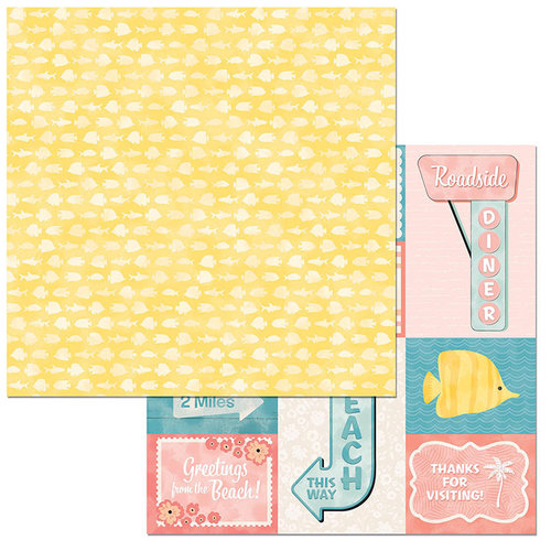 BoBunny - Escape to Paradise Collection - 12 x 12 Double Sided Paper - Aloha