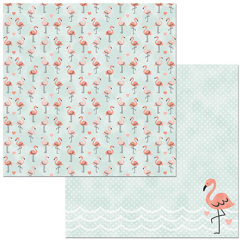 BoBunny - Escape to Paradise Collection - 12 x 12 Double Sided Paper - Beach