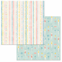 BoBunny - Escape to Paradise Collection - 12 x 12 Double Sided Paper - Cruise