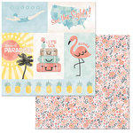 BoBunny - Escape to Paradise Collection - 12 x 12 Double Sided Paper - Dreamy