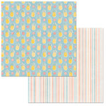 BoBunny - Escape to Paradise Collection - 12 x 12 Double Sided Paper - Pineapples
