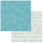 BoBunny - Escape to Paradise Collection - 12 x 12 Double Sided Paper - Waves