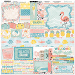 BoBunny - Escape to Paradise Collection - 12 x 12 Cardstock Stickers - Combo