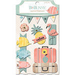 BoBunny - Escape to Paradise Collection - Layered Chipboard Stickers