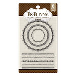 BoBunny - Clear Acrylic Stamps - Doodle Circle Frames
