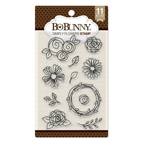 BoBunny - Clear Acrylic Stamps - Simply Flowers