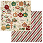 BoBunny - Yuletide Carol Collection - Christmas - 12 x 12 Double Sided Paper - Advent
