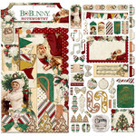 BoBunny - Yuletide Carol Collection - Christmas - Noteworthy Journaling Cards