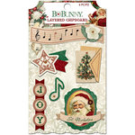 BoBunny - Yuletide Carol Collection - Christmas - Layered Chipboard Stickers