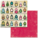 BoBunny - Christmas in the Village Collection - 12 x 12 Double Sided Paper - Countdown
