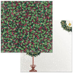 BoBunny - Christmas in the Village Collection - 12 x 12 Double Sided Paper - Holly