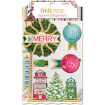 BoBunny - Christmas in the Village Collection - Layered Chipboard Stickers