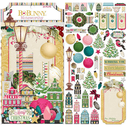 BoBunny - Christmas in the Village Collection - Noteworthy Journaling Cards
