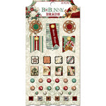 BoBunny - Yuletide Carol Collection - Christmas - Brads