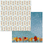 BoBunny - Beautifully Brisk Collection - 12 x 12 Double Sided Paper - Memories