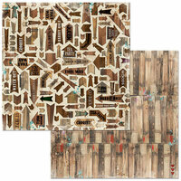 BoBunny - Land of Wonder Collection - 12 x 12 Double Sided Paper - Woods