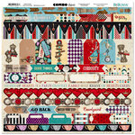 BoBunny - Land of Wonder Collection - 12 x 12 Cardstock Stickers - Combo