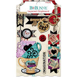 BoBunny - Land of Wonder Collection - Layered Chipboard Stickers