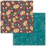 BoBunny - Floral Spice Collection - 12 x 12 Double Sided Paper - Floral Spice