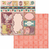 BoBunny - Floral Spice Collection - 12 x 12 Double Sided Paper - Beautiful