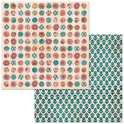 BoBunny - Floral Spice Collection - 12 x 12 Double Sided Paper - Lovely