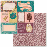 BoBunny - Floral Spice Collection - 12 x 12 Double Sided Paper - Take Flight