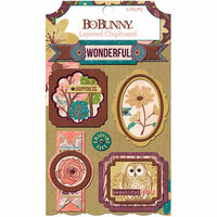 BoBunny - Floral Spice Collection - Layered Chipboard Stickers