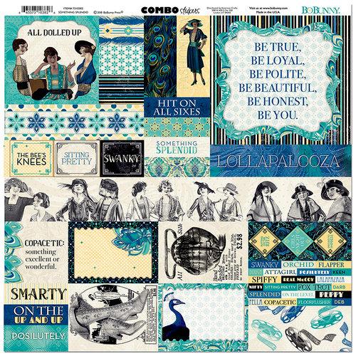BoBunny - Something Splendid Collection - 12 x 12 Cardstock Stickers - Combo