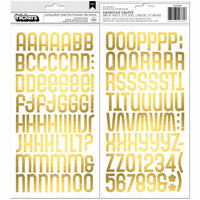 BoBunny - Something Splendid Collection - Thickers - Alpha - Foam and Gold Foil