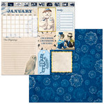 BoBunny - Banner Year Collection - 12 x 12 Double Sided Paper - January