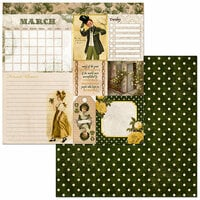 BoBunny - Banner Year Collection - 12 x 12 Double Sided Paper - March